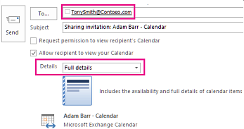 Invitation to share mailbox email externally - To box and Details setting