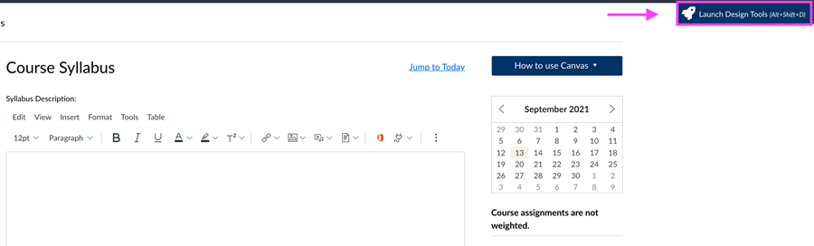 Screenshot shoring Design Tools Button